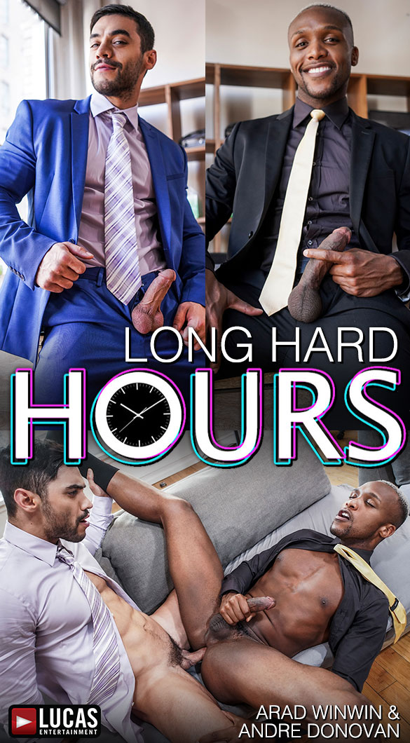 "Lucas Entertainment: Andre Donovan makes his bottoming debut with Arad Winwin in ""Gentlemen 26: Long, Hard Hours"""