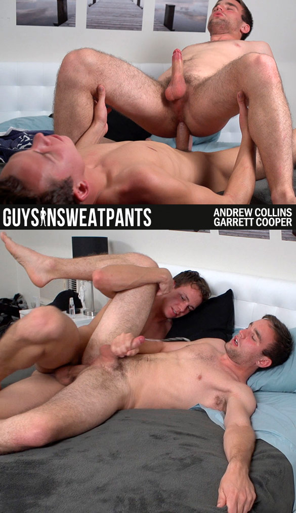 GuysInSweatpants: Garrett Cooper cums in Andrew Collins
