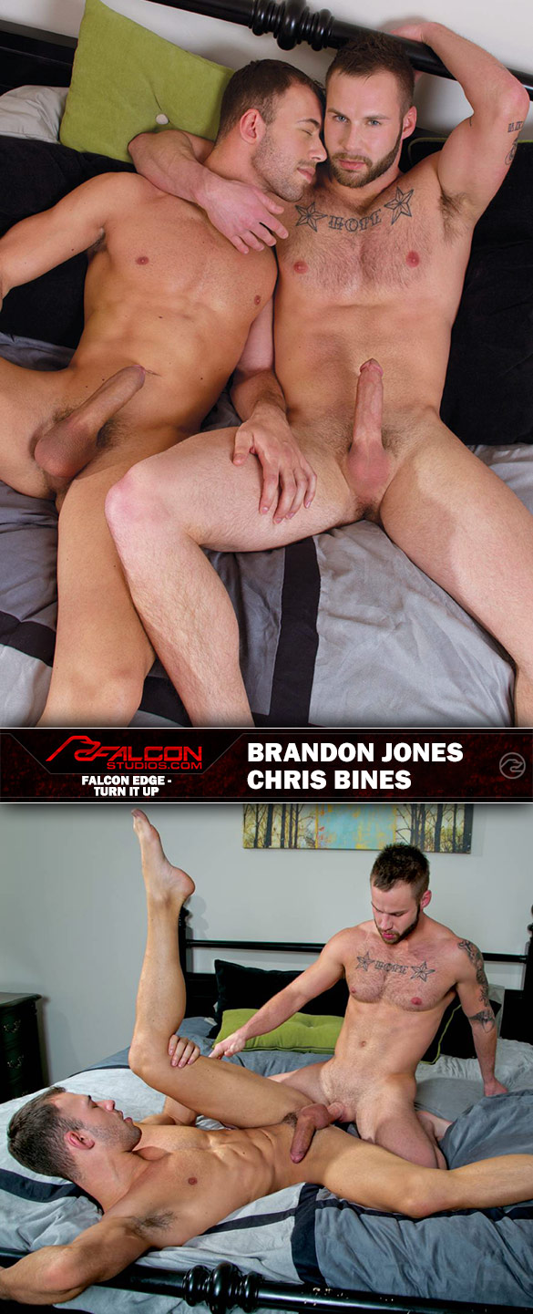 "Falcon Studios: Brandon Jones and Chris Bines fuck each other in ""Turn It Up"""
