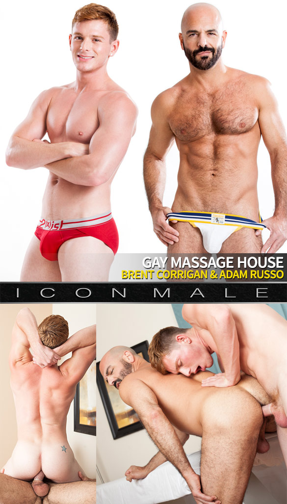 "IconMale: Brent Corrigan and Adam Russo fuck each other in ""Gay Massage House"""