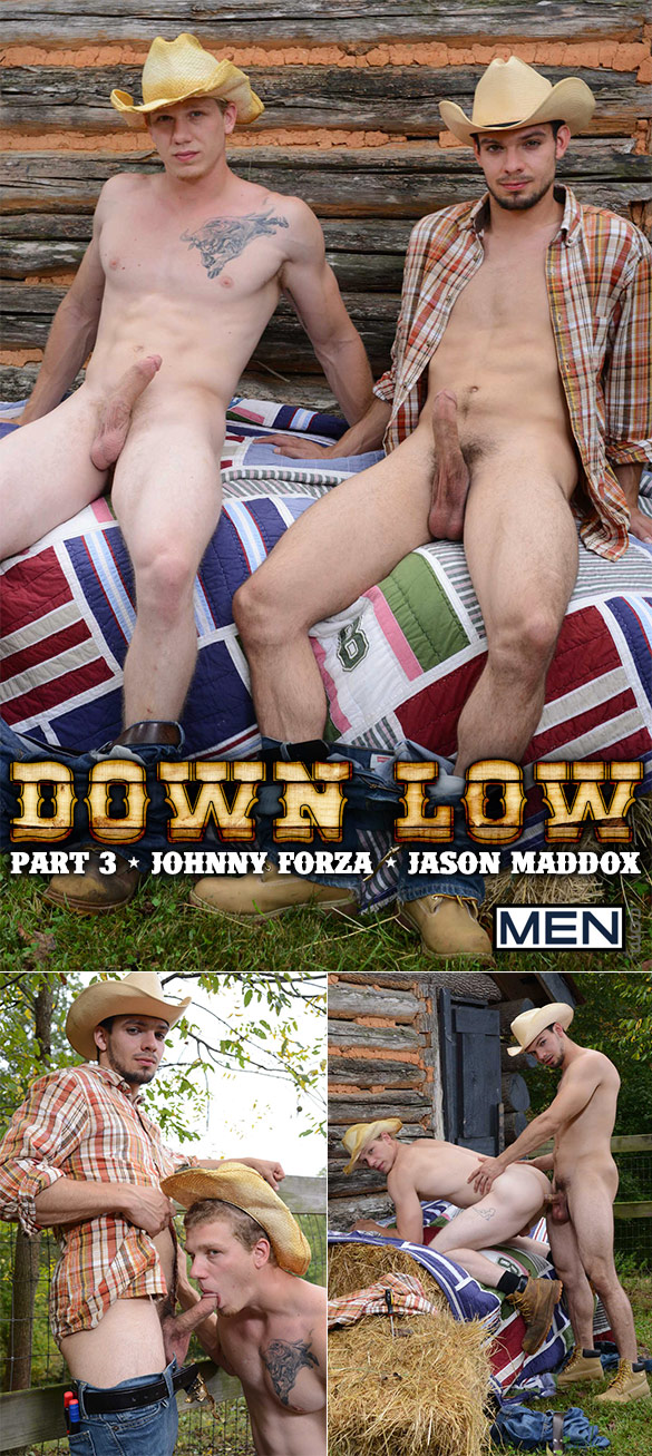 "Men.com: Johnny Forza bottoms for Jason Maddox in ""Down Low, Part 3"""