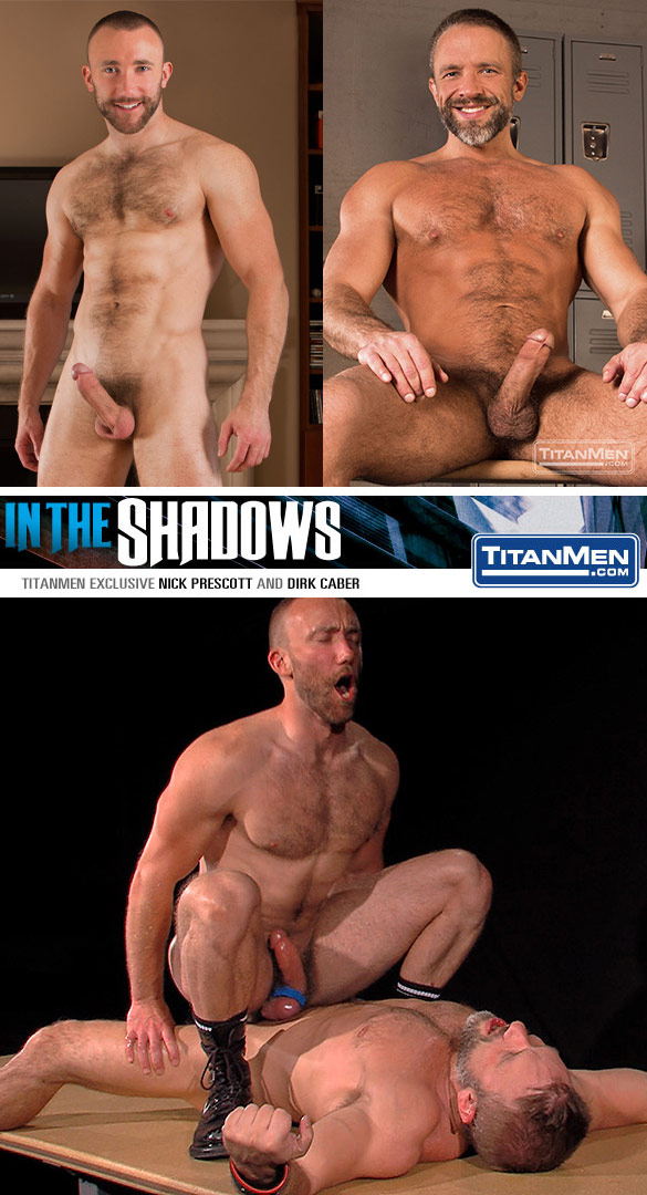 "TitanMen: Nick Prescott rides Dirk Caber in ""In the Shadows"""