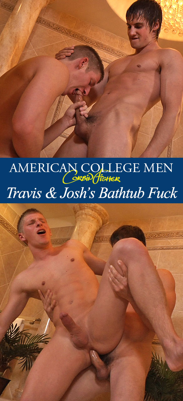 Corbin Fisher: Travis barebacks Josh