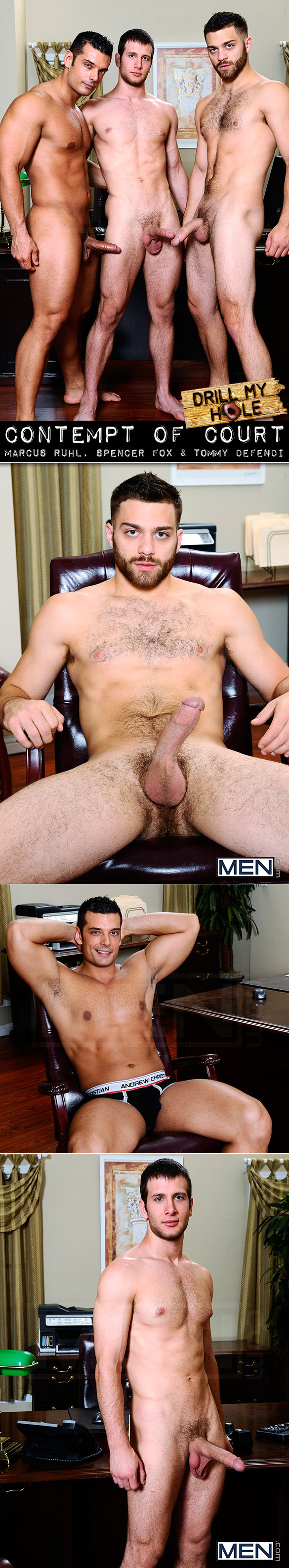 Men.com: Spencer Fox gets fucked by Marcus Ruhl and Tommy Defendi